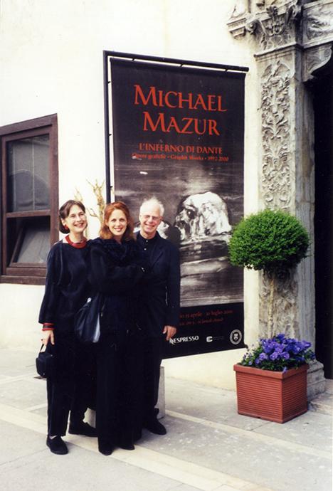 Gail Mazur with Michael Mazur and Kathe Mazur